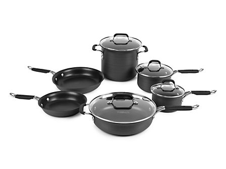 Kitchen Essentials Hard Anodized 10 Piece Set