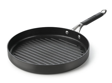 "Kitchen Essentials Hard Anodized 12"" Round Grill"