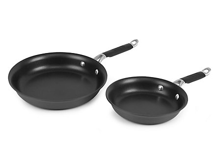 "Kitchen Essentials Hard Anodized 8""/10"" Omelette Combo"