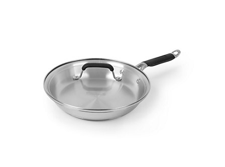 "Kitchen Essentials Stainless 10"" Omelette with Cover"