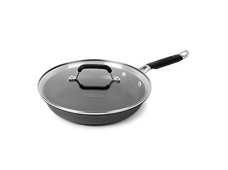 "Kitchen Essentials Hard Anodized 10"" Omelette with Cover"