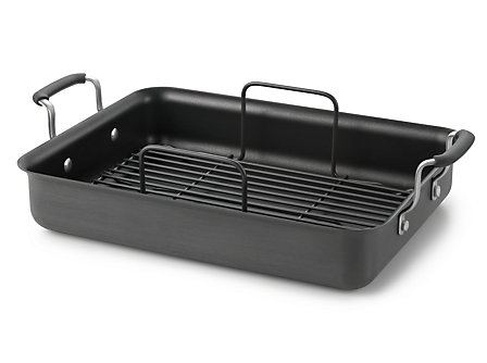 "Kitchen Essentials Hard Anodized 16"" x 12"" Roaster"