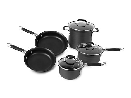 Kitchen Essentials Hard Anodized 8 Piece Set