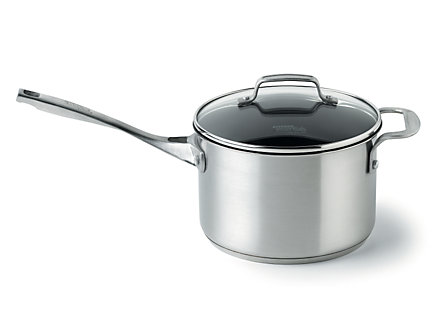 Kitchen Essentials Stainless 4 Qt. Sauce Pan- Nonstick