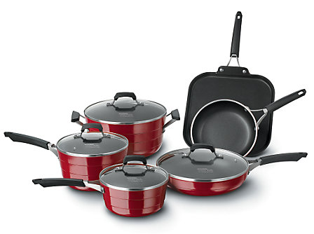 Kitchen Essentials Styleware Red 10 Piece Set
