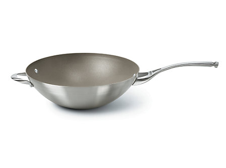 Calphalon CS Nonstick 13-in. Flat Bottom Wok