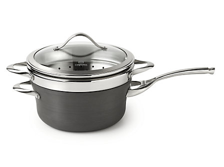 Calphalon Contemporary Nonstick 4.5-qt. Sauce Pan with Steamer Insert