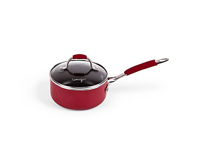 Simply Calphalon Enamel 1-qt. Sauce Pan: Red