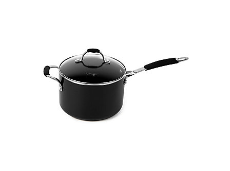 Cooking with Calphalon Enamel 2 Qt. Sauce Pan - Black
