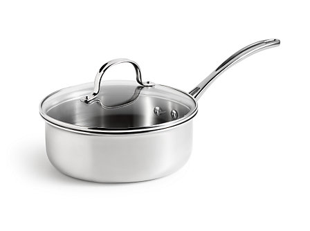 Calphalon Tri-Ply Stainless Steel 2.5 Qt. Shallow Sauce Pan