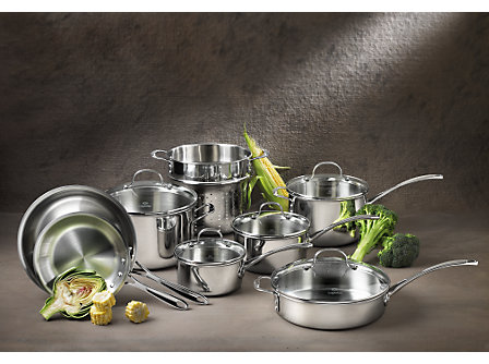 Calphalon Tri-Ply Stainless Steel 13 Piece Set