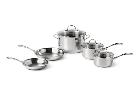 Calphalon Tri-Ply Stainless Steel 8 Piece Set
