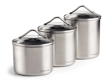 Calphalon 3-pc. Stainless Steel Canister Set: Oval