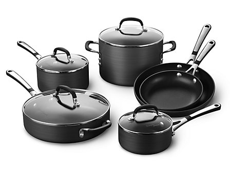 Simply Calphalon Nonstick 10-pc. Cookware Set