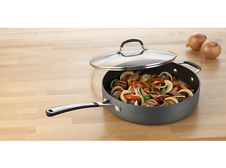 Simply Calphalon Nonstick 5-qt. Saute Pan: Gray