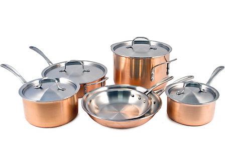 Calphalon Tri-Ply Copper 10-pc. Cookware Set