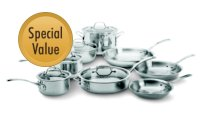 Calphalon+Tri-Ply+Stainless+Steel+13-pc.+Cookware+Set