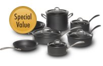 Calphalon+Commercial+Hard-Anodized+13-pc.+Cookware+Set