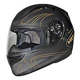 Origine Comp Gold Flames Motorcycle Helmet