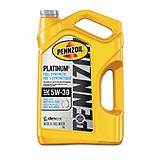 Pennzoil Platinum Synthetic Motor Oil, 5 L