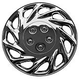 Chrome Finish Wheel Cover KT858 Plate Style, 14-in.