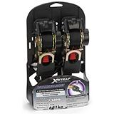 X-Strap 6-ft. Retractable Ratchet Tie Downs, 2-pack