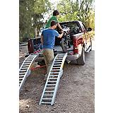 84-in Steel Rung Folding Arched Loading Ramp Pair