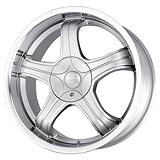 Sacchi S22 222 Rim in Hypersilver with Machined Lip