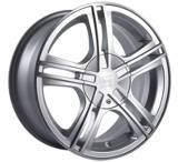 Sacchi S62 262 wheel in Hypersilver with Machined Face