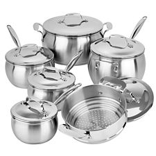 Lagostina commercial pro stainless steel cookware set 12 pc canadian tire - Batterie de cuisine lagostina ...