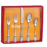 20-piece Gourmet Settings New School Flatw...