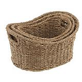 Seagrass 3-piece Curved Basket