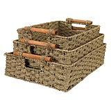 Nesting Seagrass Baskets, set of 3