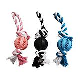 Puptreads Ball with Rope Dog Toy