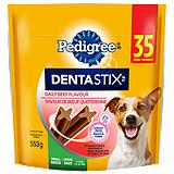 Pedigree Small Denta Stix, Beef Flavour, 25-Pk
