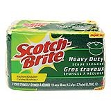 Scotch Brite Heavy Duty Scrub Sponge, 3-pack