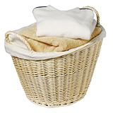 For Living Wicker Laundry Basket