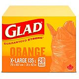 Glad Easy-Tie Big Orange Garden Bags