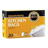 Likewise Drawstring Kitchen Bags, 24x30-in.