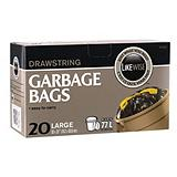 Likewise Drawstring Garbage Bags, 30x31-in.