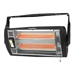 Ceiling-Mounted Workshop Heater with Halogen Light www