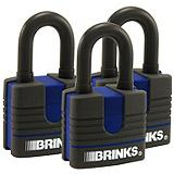 Brinks 40 mm Weather Resistant Padlocks, 3-pk