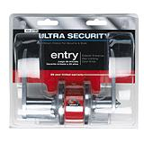 Serrure d'entr�e � cl� � levier Ultra Security, inox