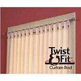 Twist 'n' Fit Curtain Rod, Nickel