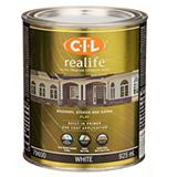 CIL White 946 mL Realife Flat Exterior Paint
