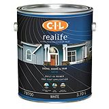CIL Realife White 3.7 L Satin Exterior Paint