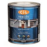 CIL Realife White 946 mL Satin Exterior Paint