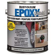 Rust oleum epoxy shield concrete floor paint grey - Peinture rust oleum ...