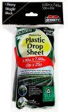 bennett plastic drop sheet black 10ft x 25ft