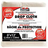 Bennett Laminated Canvas Drop Cloth, 8-ft x 12-ft